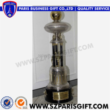 New Arrival Metal Trophy Cup With Dual Gold Silver Ball On Top