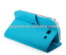 fashion purse leather case for samsung galaxy s3 i9300,for samsung galaxy s3 window view smart case