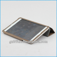 taupe brown semi-enclosed smart leather portfolio case for ipad mini