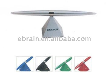Metal Pyramid Magnetic floating Stand with Ball Pen
