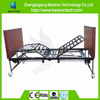 China BT-AE032 hospital 5 function ultra-low foldable electric patient bed, home care bed, nursing bed price
