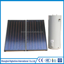 Flat plate collector pressurized split solar water heating system solar panel system