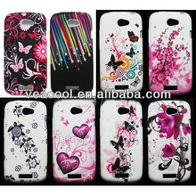 Butterfly Flower TPU Silicone Gel case for Samsung Gaiaxy Y Duos S6102