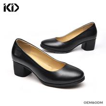 Top quality occupational shoes comfy low heel work dress shoes air crew police women uniform shoes