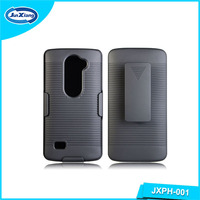 Online cell phone holster for LG C40 H320 LEON with kickstand and belt clip