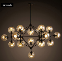 2015 Retro Vintage Jason miller magic heads modo Chandelier for restaurant parlor hotel iron glass vintage DNA pendent lights