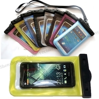 2015 hot PVC smartphone waterproof bags for iphone samsung galaxy waterproof packing call phone case universal