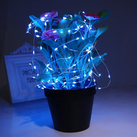 Solar powered rechargeable led party light strings