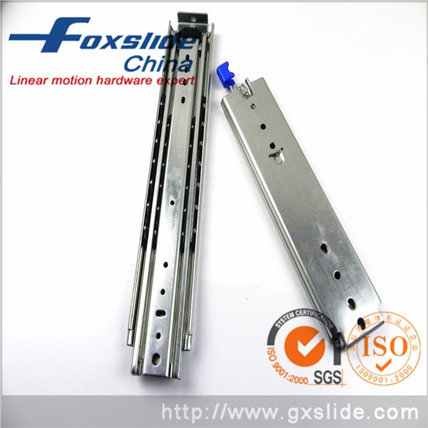 Furniture Fitting 45mm Drawer Slide Telescopic Channel