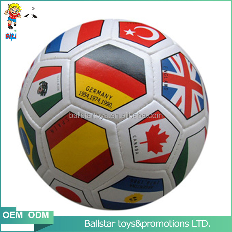 4 inch PVC Wholesales fashional Vinyl leather stuffed flag leather soccer sharp toys <strong>ball</strong>