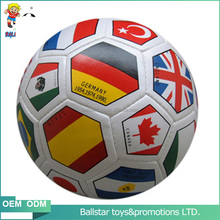 4 inch PVC Wholesales fashional Vinyl leather stuffed flag leather soccer sharp toys ball