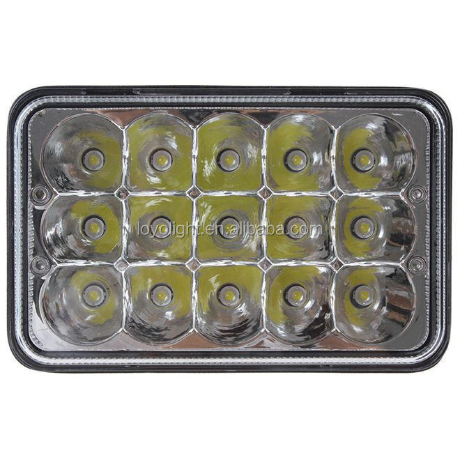 7 inches led square headlight high low sealed beam 45w auto light