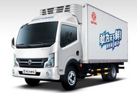 Chear5-7Tons Dongfeng RHD frozen food refrigerator truck/mobile food truck/refrigerated cold room van truck for hot sale