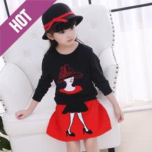 Kids Clothes Girls' Skirt Lady Pattern Two Pieces Clothing Custom Made Dinnerware Dress Sets