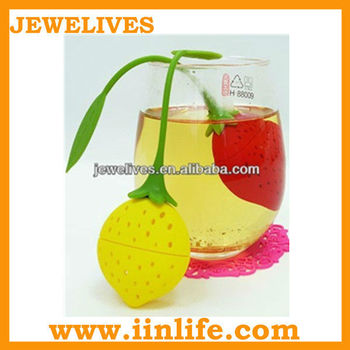 Various color round shape silicone teapot tea infuser