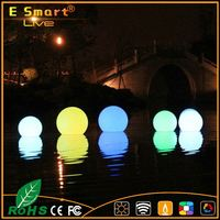 IP65 multi color led oval swimming pool light floating light Waterproof LED lighting PE sphere ball shape