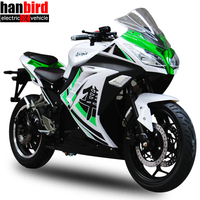 Hanbird Top Quality 3000W Road Bike Super Power Motorcycle for Adults