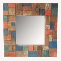 recycle boat wood mirror