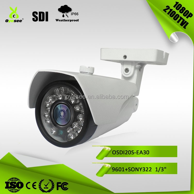 "OSDI20S-EA30 2MP 2100TVL 1080P 322 1/3"" CMOS 3.6mm Board Lens 30pcs IR Leds 25M Range IP66 SDI camera cctv equipment"