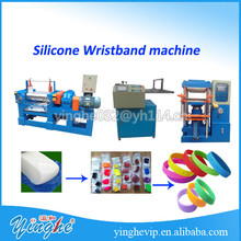 hot selling embossed silicone wristband making machine
