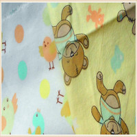 custom 00% cotton english deer printed flannel fabric