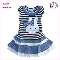 Short Sleeve Children Dress Cotton Kids Dresses For Girls