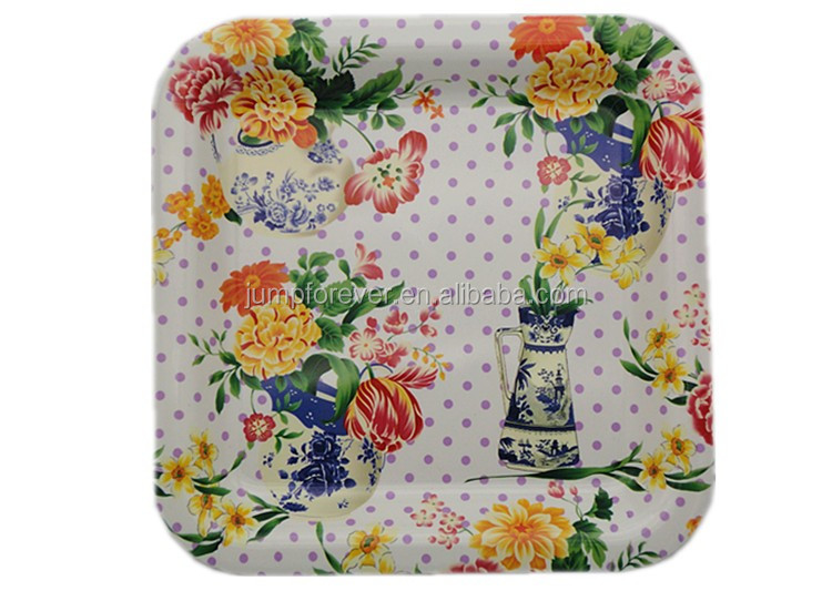 Hot Sale Top Quality Cheap White Plastic Gift Tray Plates For Dinner Restaurant
