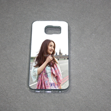 Soft rubber TPU phone case sublimation blank 2D phone case for SamsungS6