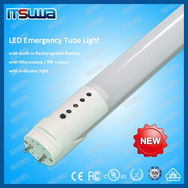 led charger emergency 5ft 2200lm ra80 UL led tube emergency light rechargeable
