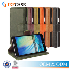 Luxury cell phone stand leather case for Samsung Galaxy A7/iPhone7/7plus,magnetic flip phone cover in high quality