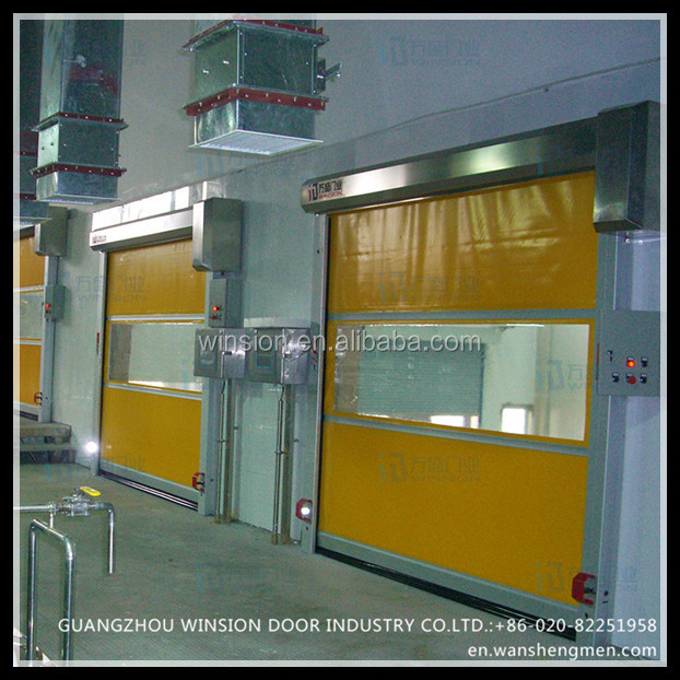 Stainless steel high performance motor China indoor rapid pvc fabric rapid door