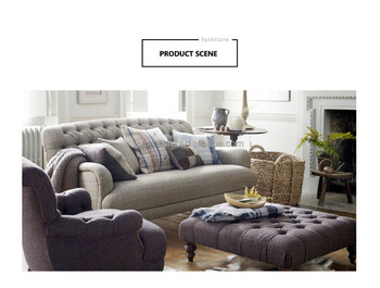 Good Quality Living Room Simple Design Modern Wooden Fabric Sofa
