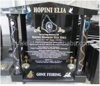 Pure Black granite tombstones and monuments