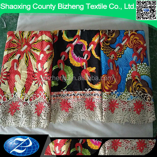 Newst high quality cord lace wax print fabric african