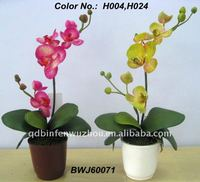 2013 Hot Artificial Potted Orchids in different colors,artificial potted orchids