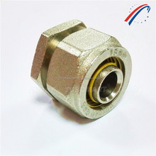 low price tube fitting nipple brass fittings for pe al pe gas piping system