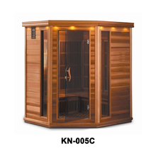Corner sauna wooden house for 4-5 persons with nano heaters KN-005E