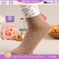 SX-206 wholesale cotton knitted funky socks 100 pure cotton socks room socks over 10 years factory