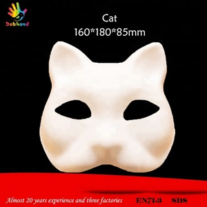Low price animal cat face cheap paper mask