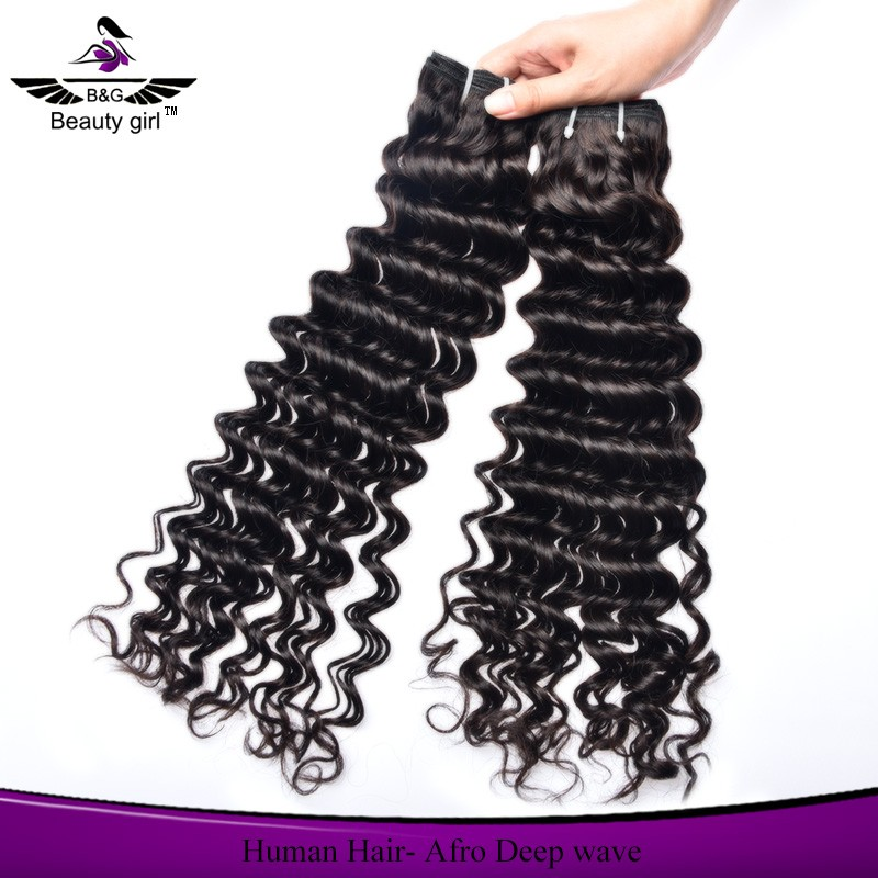 aliexpress wholesale unprocessed mongolian deep wave human hair for braiding
