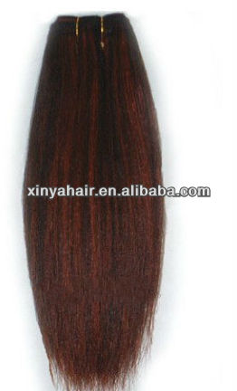 100% No chemical treated janet yaki human hair/P-color hair
