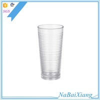 Top quality acrylic plastic cement wine glass cylindrical cup