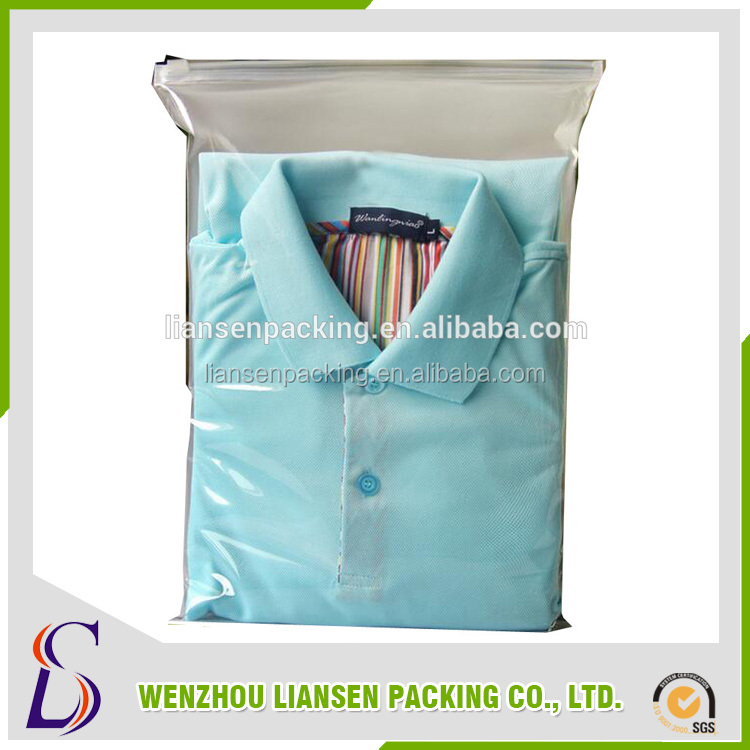 LM-PE041 clear self adhesive opp bags/resealable cello bags/resealable plastic bags for clothing