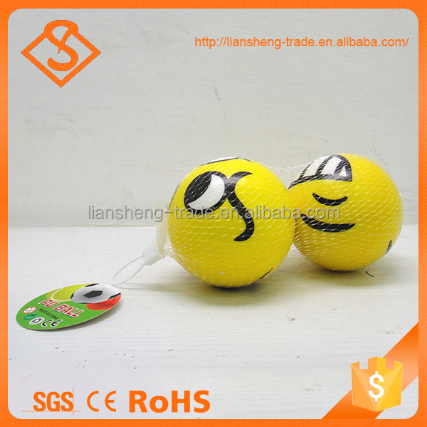 Hot Selling 4 Inch Children Toy Pu Sponge Stress Facial Expression Squeeze Toy