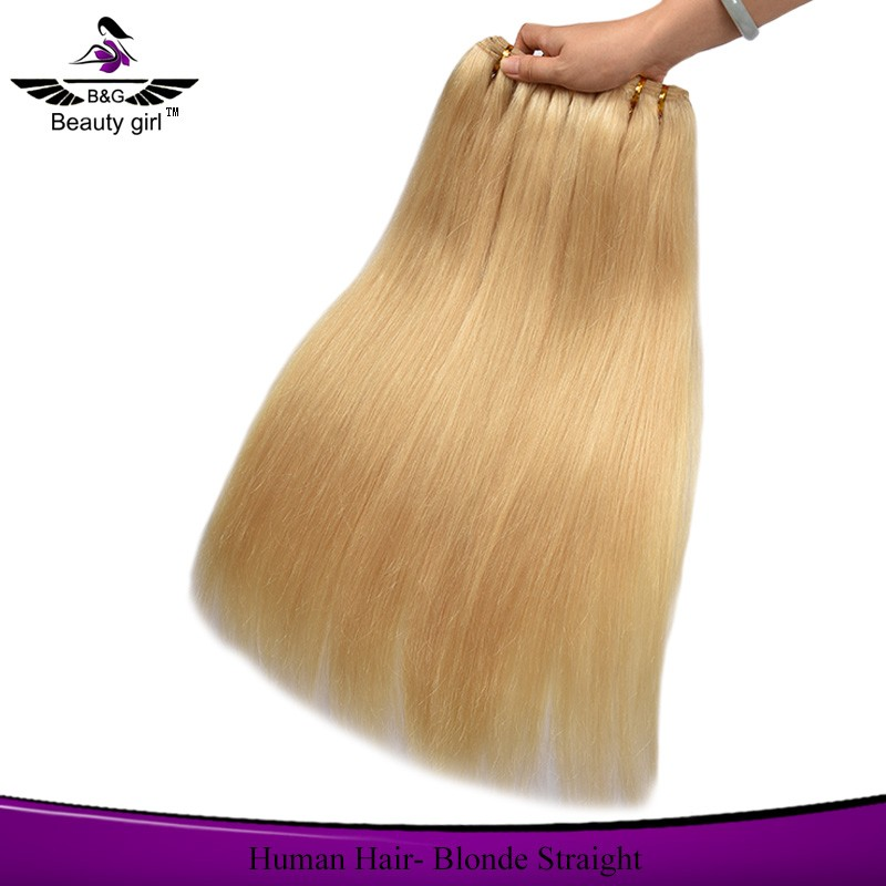 No tangle no shedding straight human hair 613 blonde hair weave russian hair extensions