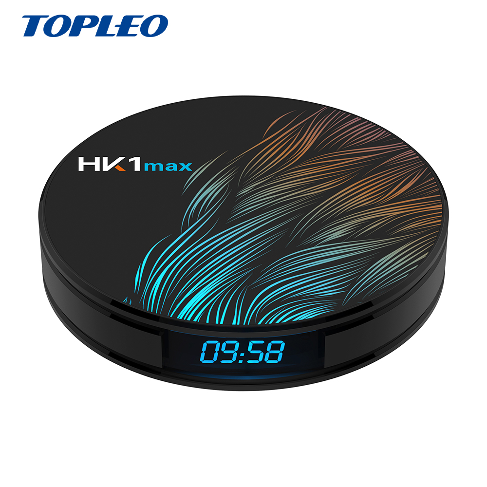 Topleo settop box <strong>provider</strong> new product 4gb 64gb firmware update rk3328 HK1max combo android 9.0 tv box