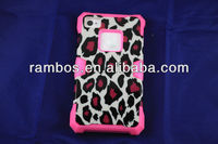 3 in 1 Leopard Lumious Cover Protective case for iphone 4 4s