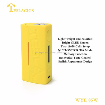 Tesla newest vape mod WYE 85W new products 2018 innovative product