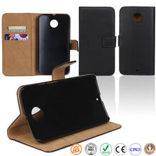 book style real cow leather mobile phone case for Motorola MOTO X2 MB870