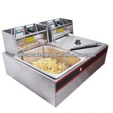 Electric Dual Tank Stainless Steel Deep Fryer 110V/220V/240V supply